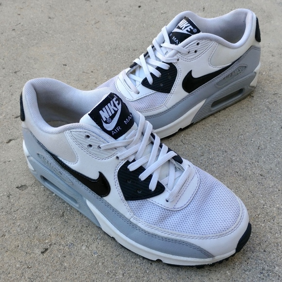 Nike Air Max 90 Essential For Women White Black Shoes 616730